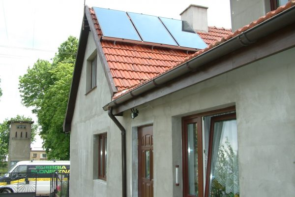 System solarny CWU Bielawa ulica Słowiańska