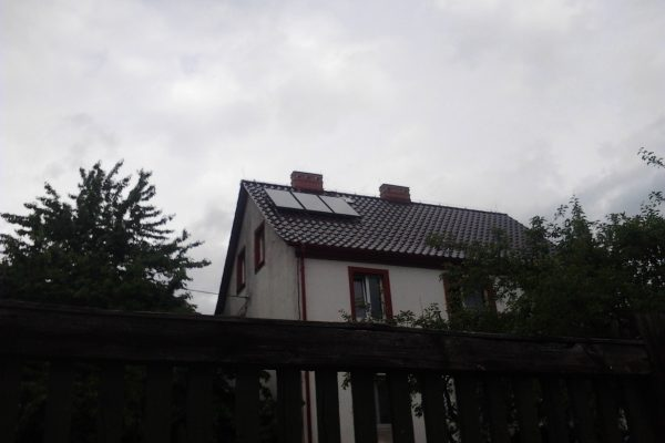 System solarny CWU Piława Górna 3 kolektory