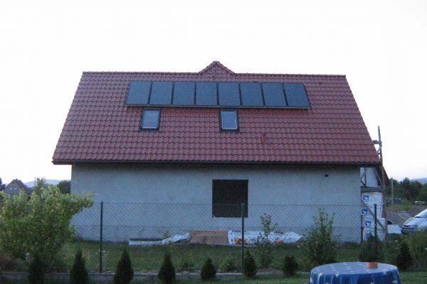 System solarny CWU CO Uciechów ulica Bławatna